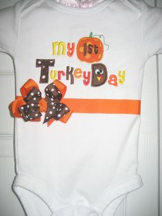 Boutique First Turkey Day Thanksgiving by PolkaDotCloset on Etsy, $18.00