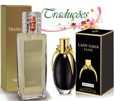 """Gold nº 56 = Fame By Lady Gaga Desenvolvida com tecnologia """"push-pull"""" que destaca diferentes aspectos de cada nota aromática, ao mesmo tempo, sem qualquer hierarquia, de uma fragrância floral oriental para mulheres modernas. Perfeito para todas as ocasiões, Fame é o primeiro perfume com líquido negro, que se torna invisível em contato com o ar e a pele."""