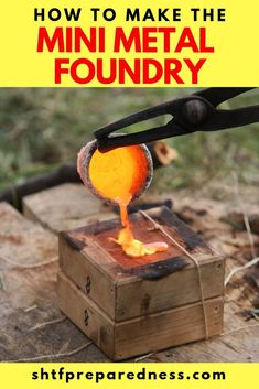 How To Make The Mini Metal Foundry There are lots of things in this life that simple. We should all strive towards a more simple life. It makes everything better. Aluminum Can Crafts, Aluminum Cans, Metal Crafts, Metal Projects, Welding Projects, Art Projects, Diy Welding, Welding Design, Welding Gear