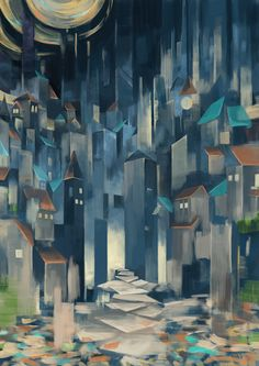 Art by はぐるま Interesting way to do perspective Aesthetic Objects, Principles Of Design, Elements Of Art, Op Art, Art Education, Painting Inspiration, Art Boards, Street Art, Abstract Art
