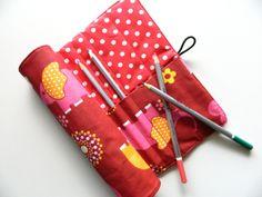 Rollmäppchen Stifterolle  von rosarot-designs auf DaWanda.com