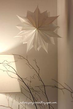 Superschöner Papierstern und soo schnell und einfach - auch toll zum Verschicken:)
