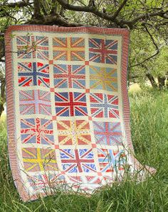 I love this quilt made by Amy Smart at Diary of a Quilter - a quilt blog: Finished Union Jack Quilt