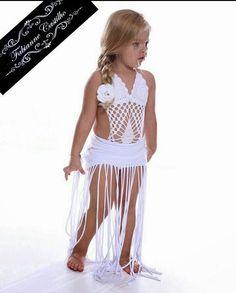 Fashion Kids, Preteen Fashion, Girls Fashion Clothes, Crochet Monokini, Crochet Bikini Pattern, Crochet Baby Bloomers, Dance Outfits, Girl Outfits, Hairpin Lace Crochet