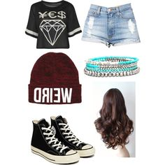 Untitled #203 by beau-4-ever on Polyvore featuring polyvore, fashion, style, Boohoo, Converse and BKE