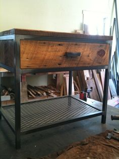 Love this industrial design! Visit stonecountyironworks.com for more amazing wrought iron designs!