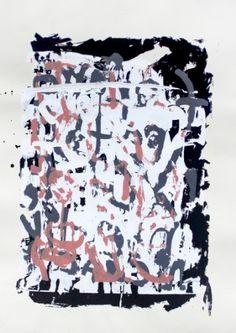 Words, silkscreen monoprint by ECF Art Centers artist Jameel Linzy - null,http://www.amazon.com/dp/B00F2KFDZA/ref=cm_sw_r_pi_dp_Fz.xtb1PE5WM9CC9
