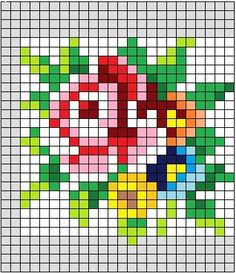 cross stitch chart - good for hama beads!