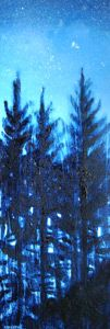 Forest Stars Snow, Paintings, Stars, Gallery, Outdoor, Outdoors, Paint, Roof Rack, Painting Art