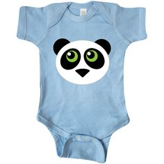 Panda+animal+face+Infant+Creeper+Light+Blue+$14.99+www.virtuosodesigner.com