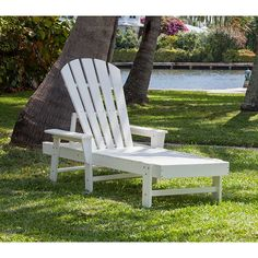 POLYWOOD Recycled Plastic Adirondack Style Chaise Lounge | Maintenance Free Resin | Available at Vermont Woods Studios