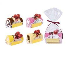 Dulce Tronco de Pastel en bolsita regalo. ¡La forma mas dulce de sorprender a los invitados de tu boda!.