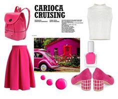 """""""#dayincolors"""" by hadziczerina ❤ liked on Polyvore featuring Chicwish, B Brian Atwood, tenoverten and Topshop"""