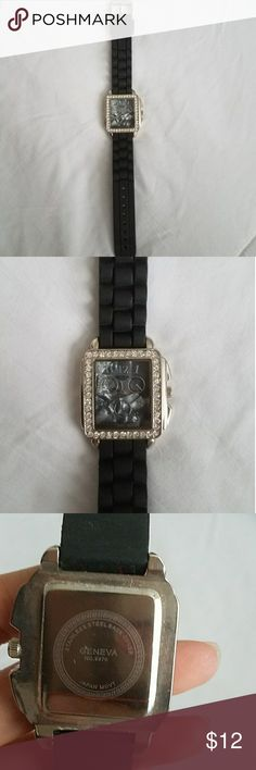 Black Geneva Watch NWOT Geneva Watch. Watch has never been worn. Needs new battery.  10% off bundles of two or more or add to a bundle for a private discount. Geneva Accessories Watches