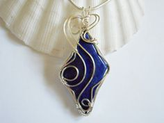 Wire Wrapped Jewelry Handmade, Lapis Lazuli Pendant, Necklaces for Women, elainesgems, 239250 by elainesgems, $27.00 USD