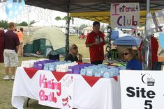 """""""Kissing Booth"""" selling Hershey's Hugs and Kisses    IMG_8591 by smanny70, via Flickr #relayforlife"""