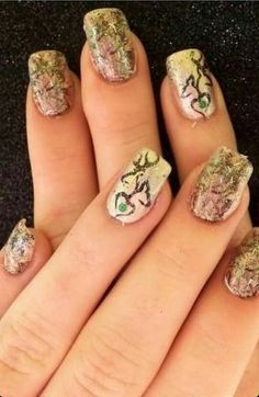 camo & browning nails LOVE