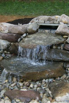 Pondless water features are great for people with children! You get the beauty and sound, without the danger.