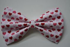 Valentine's hearts-hair Bow, bows for hair, girls Hair bows, Valentines Hearts Hair Bow for teens,red hearts,pink hearts $4.50