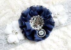 CUSTOMIZED Seattle Mariners Wedding Garter | Bridal Garter Set | Bling Wedding Garter | Crystal Garter   ETSY - LuxeLaceDesigns®