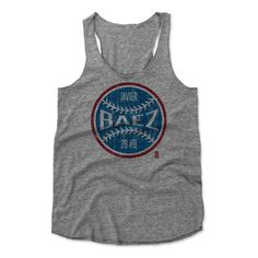 Javier Baez Ball RB Chicago MLBPA Officially Licensed Women's Tank Top S-XL