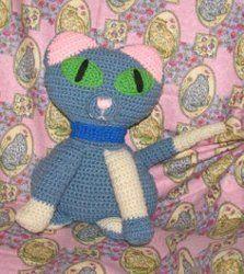 Blue Crochet Kitty. FP 2/15.