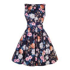 Retro šaty Lady V London Summer Carnation Floral Tea Blanka Straka.jpg