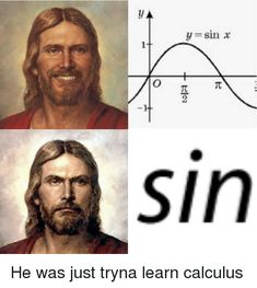 "65 Christian Jesus Memes That Are so Funny, You'll Swear It's a Miracle - - 65 Christian Jesus Memes That Are so Funny, You'll Swear It's a Miracle Christian Memes 65 Christian Jesus Memes – ""Er war nur Tryna, um Kalkül zu lernen. Memes Humor, Math Memes, Science Memes, New Memes, Funny Jokes, Physics Memes, Student Memes, Funny Christian Memes, Christian Humor"