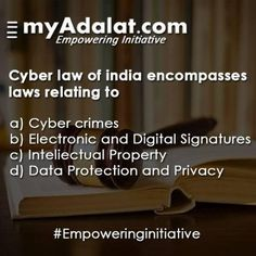 Do you know about Cyber Law? To know more, talk to our experts @ www.myadalat.com #empoweringinitiative #law #judge #lawyer #justice #familylaw #UP #Indianlaw #lawyers #highcourt #bombayhighcourt #cyberlaw Cyberlaw Clinic CyberLaw UW Cyberlawebavillas Cyberlaw Law LawRato.com Law & Order: Special Victims Unit Lawvedic.com Lawyersclubindia LawyerServices CriminalLawyer.com Criminal Lawyers in Delhi