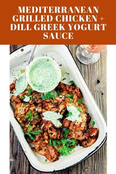 The perfect grilled chicken recipe, prepared Mediterranean-style! The secret is in the marinade with lots of great Mediterranean spices. Perfect Grilled Chicken, Grilled Chicken Recipes, Greek Yogurt Sauce, Roasted Garlic Hummus, Greek Potatoes, Mediterranean Spices, Chicken Spices, Light Recipes, Turkey Recipes