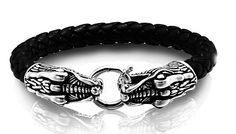 A cool leather bracelet with a stunning 925 dragon design is excellent for trendy, fashionable guys.