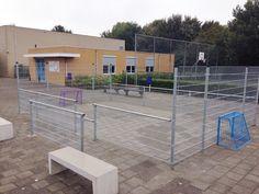 Met een beperkt budget, een sportief schoolplein. Pannaveld Basic, 5 x 7,5 meter Vlissingen
