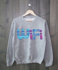 Aztec Wifi Grey Crewneck