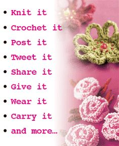 Ideas for celebrating I Love Yarn Day!    Create an I Love Day Yarn badge  Teach someone to knit or crochet  Do something for charity  Wear a knitted or crocheted item  Give a gift of yarn  Take your yarn to work day  Host a yarn-a-bration party  Knit, crochet and craft in public  @Kristen Erickson