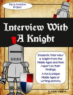 Interview With a Knight Social Studies Project - have fun learning about the Middle Ages with this creative project. ($)