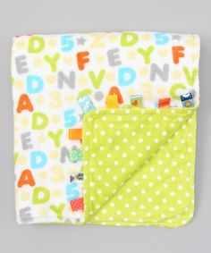 Blankets & Throws Taggies Green Orange Polka Dot Fleece Baby Security Blanket Lovey Lovie 12x12 To Suit The PeopleS Convenience Baby