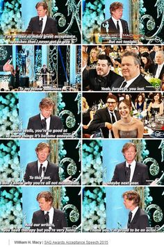 William H. Macy forgetting he's not really Frank. #SAGAwards2015