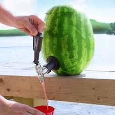 Housewarming Gift Idea - Watermelon Keg Kit - You tap a watermelon to tell if it is ripe, right? Now tap it another way! For the person whose new house has that killer patio, the Watermelon Keg Kit makes every cookout an instant party. Not only do you get a super cool drink dispenser, but you get to eat the watermelon, too! WIN WIN!