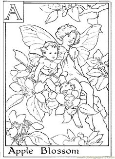 Flower Coloring Pages For Adults | Come| Come back soon to see the rest of the Alphabet Flower Fairies! Description from pinterest.com. I searched for this on bing.com/images
