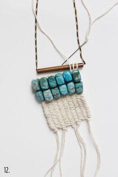 / diy woven necklace