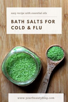How to make bath salts for cold and flu. This natural cold remedy will help you feel better fast. This homemade recipe is easy to make with Epsom salts and eucalyptus essential oil for their benefits Essential Oil Cold Remedy, Essential Oils, Epsom Salt Bath, Flu Symptoms, Natural Cold Remedies, Diy Hair Care, Flu Remedies, Eucalyptus Essential Oil, Runny Nose