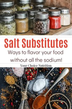 Salt Substitutes: Ways to flavor your food without all the sodium! Low Sodium Snacks, No Sodium Foods, Low Sodium Diet, Low Sodium Recipes, Low Salt Snacks, Low Sodium Soup, Heart Healthy Diet, Heart Healthy Recipes, Healthy Foods