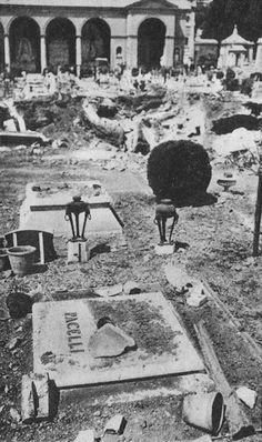 19 juillet 1943 Les bombes ne font pas dans le détail et n'épargnent pas les tombes de la familles du Pape Pie XII