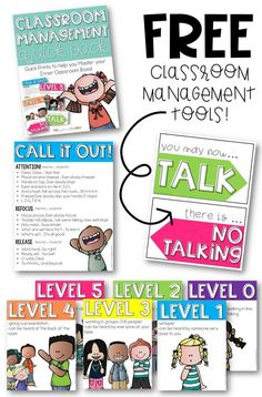 Grab these FREE classroom management posters and signs and finally wrangle all that talking! This amazing pack includes: noise level posters, a call and response reference sheet, and a no talking sign. Oh and they're FREE! 2nd Grade Classroom, Classroom Rules, Classroom Posters, Future Classroom, School Classroom, Classroom Ideas, Classroom Organization, Classroom Procedures, Classroom Projects