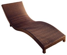 Grecian Wicker Outdoor Lounge Chair - contemporary - Outdoor Chaise Lounges - Great Deal Furniture