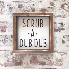Scrub a dub dub sign- bathroom signs - boys bathroom - restroom - bathroom humor...#bathroom #boys #dub #humor #restroom #scrub #sign #signs Unisex Bathroom, Brown Bathroom, Bathroom Kids, Bathroom Humor, Small Bathroom, Bathrooms, Masculine Bathroom, Diy Wood Projects, Wood Signs