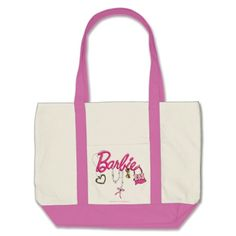 Barbie Name & Accessories Tote Bag #Barbie#accessories#womens#totebag