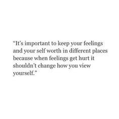 feelings and self worth