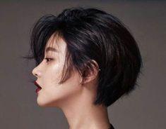 Short Hairstyles and Haircuts - Black Haircut Styles Korean Short Hair, Messy Short Hair, Girl Short Hair, Short Hair Cuts, Short Pixie, Pixie Cuts, Short Hair Tomboy, Pretty Short Hair, Short Bobs
