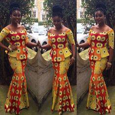 http://www.dezangozone.com/2016/03/ankara-skirt-and-blouse-style_23.html ~ African fashion, Ankara, kitenge, Kente, African prints, Braids, Asoebi, Gele, Nigerian wedding, Ghanaian fashion, African wedding ~DKK